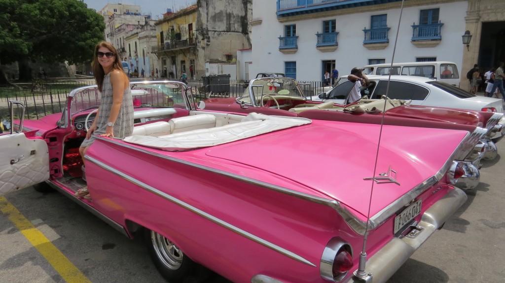 Client in Vintage car