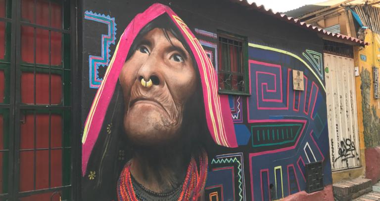 Street art in La Candelaria, Bogota