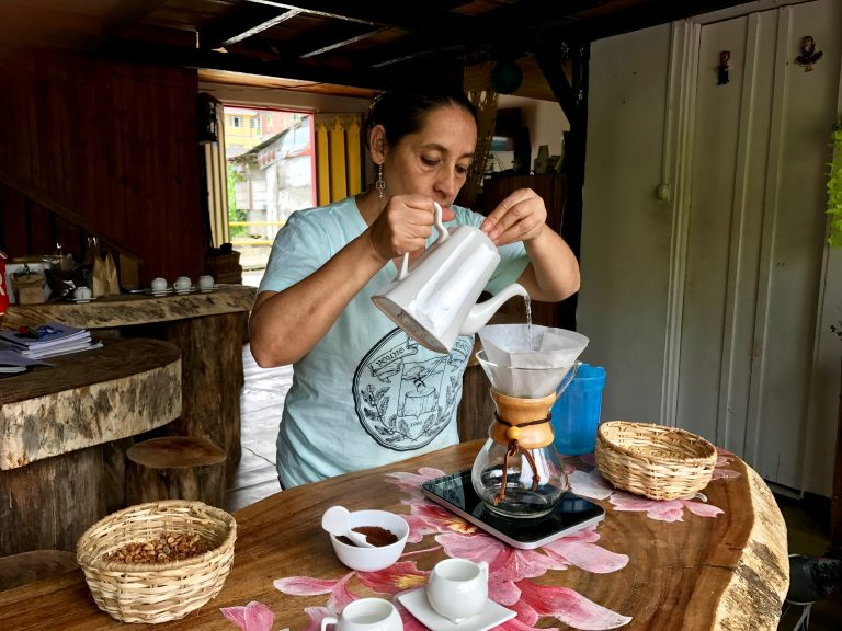 Single-origin coffee in Pijao, Colombia