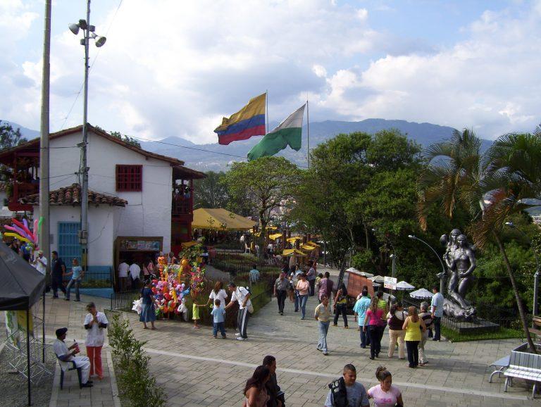 Medellin people on the street